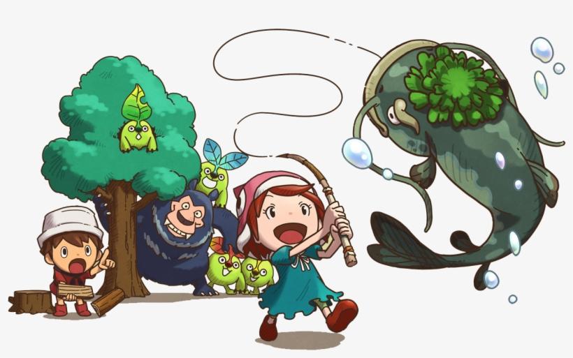 Fishing - Png - Fantasy Life Character Art, transparent png #1282389
