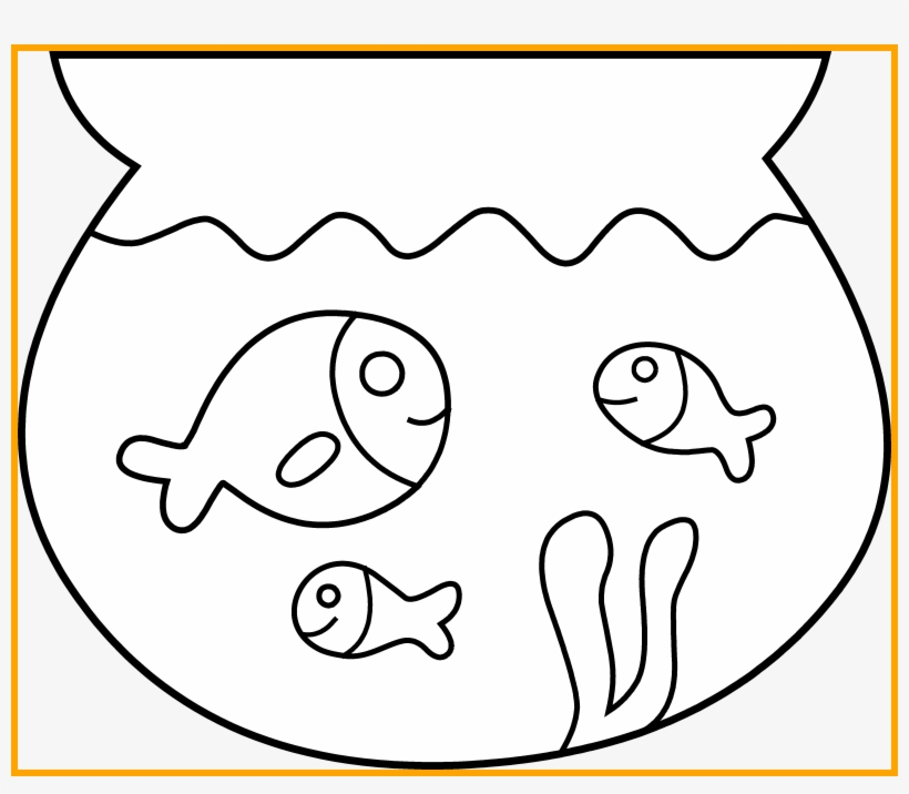 Fishing Clipart Bowl Pet Animals Clipart Black And White Free