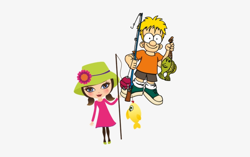 Kids-fishing - Kids Fishing Png, transparent png #1282818