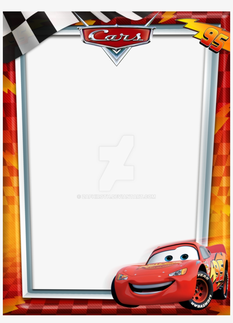 Custom Cars Lightning Mcqueen Pillowcase Cushion Cover - Cars Borders And Frames, transparent png #1282938