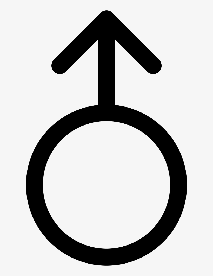 Circle Outline With An Arrow Pointing Up Comments - Uranus Zodiac Signs, transparent png #1285771