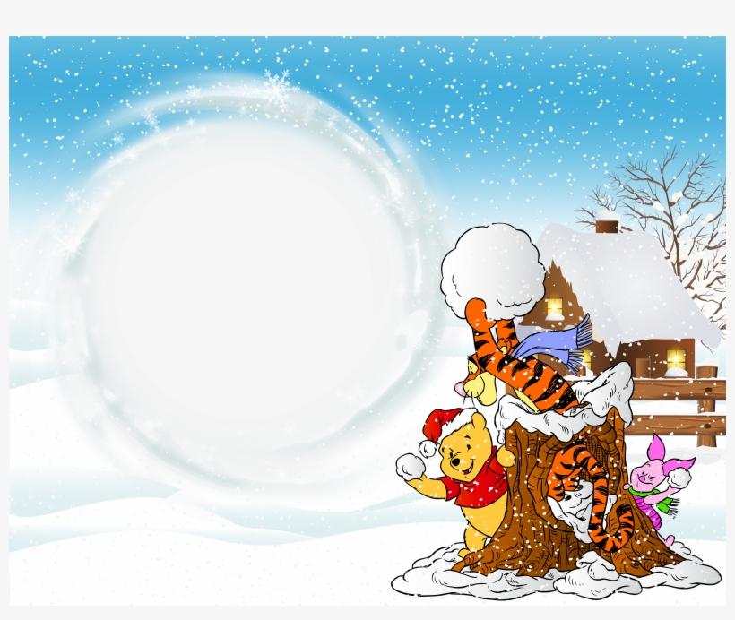 Kids Easter Egg Winnie The Pooh Png Clip Art Imageu200b - Winnie Christmas Photo Frame, transparent png #1285963