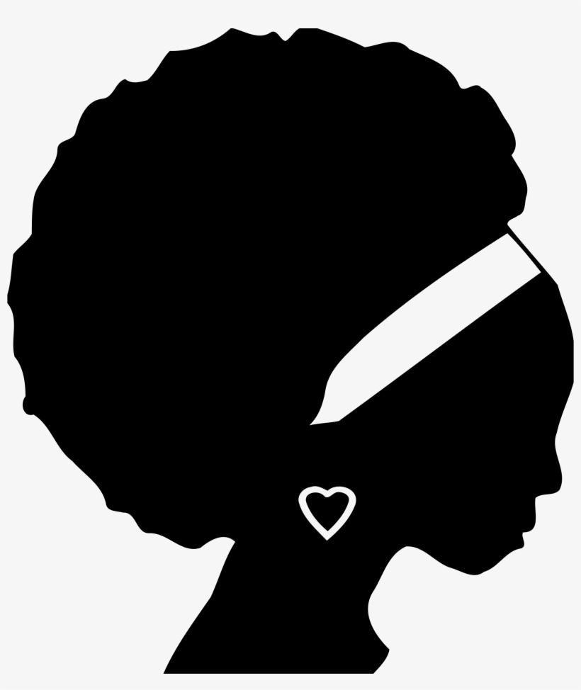 Lady Silhouette Clipart - Black Woman Silhouette, transparent png #1287337