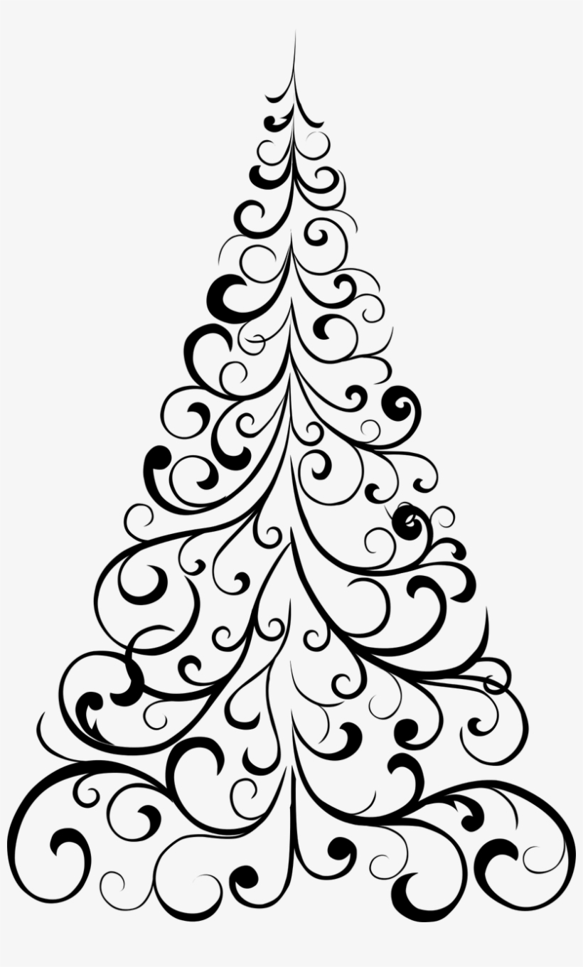 How To Draw A Christmas Tree Free Printable Christmas Christmas