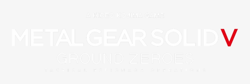 Metal Gear Solid 5 Logo Png - Metal Gear Ground Zeroes Logo, transparent png #1289362