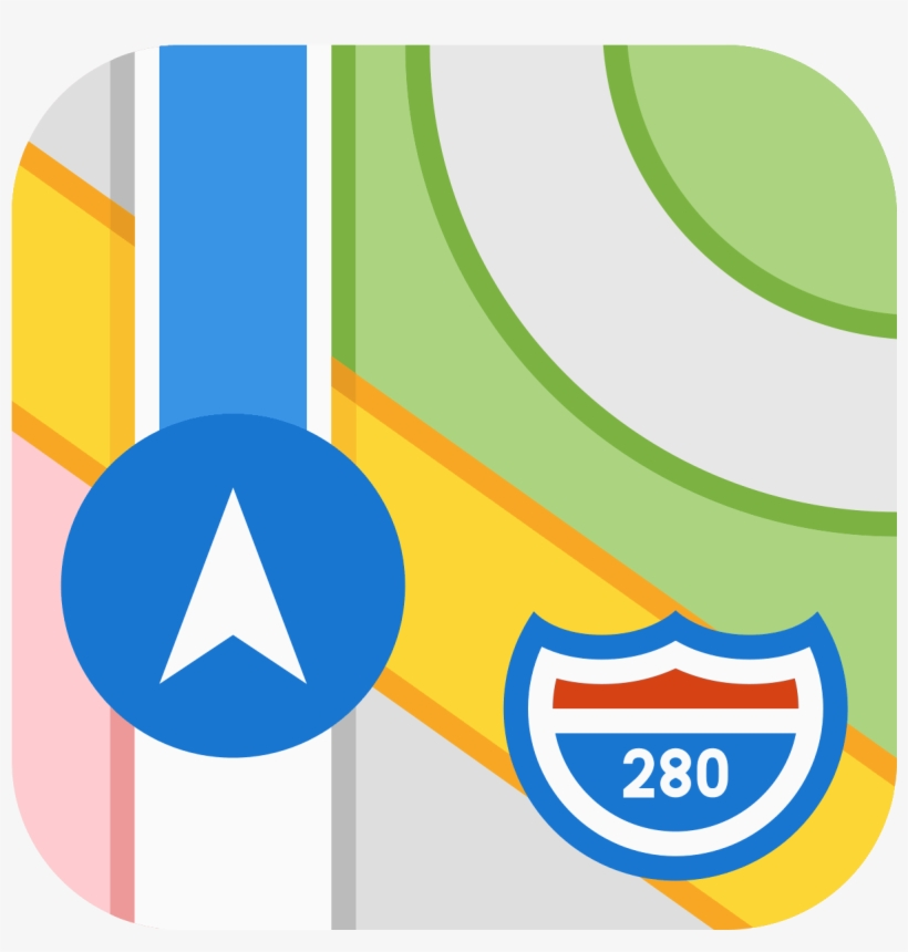 Apple Map Icon - Maps Apple - Free Transparent PNG Download