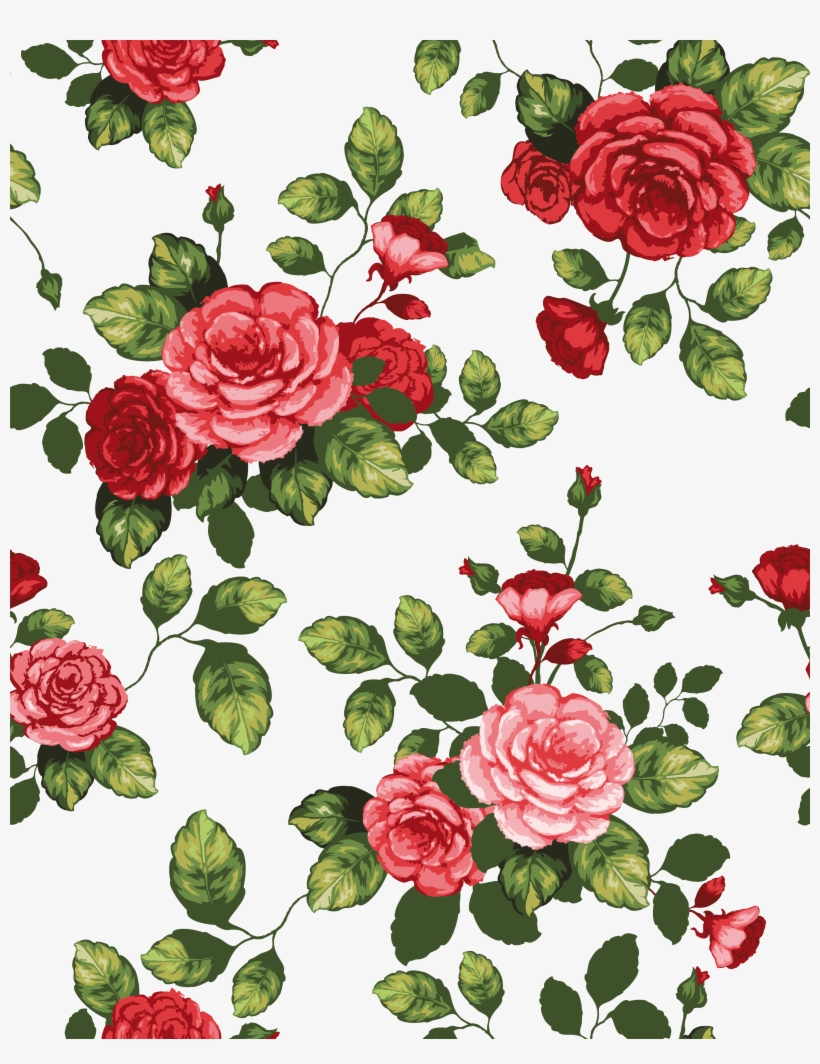 Paper Flowers Cartoon Border Shading Transprent Png - Beautiful Rose Flowers Drawing, transparent png #1291464