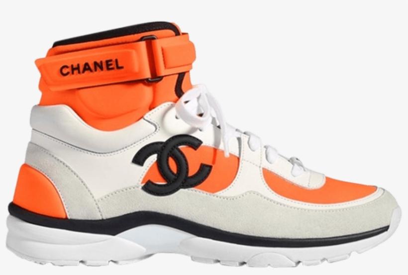 2e59c5497e99 Chanel Wmns Logo High Top - Chanel Shoes Sneakers 2018 - Free ...