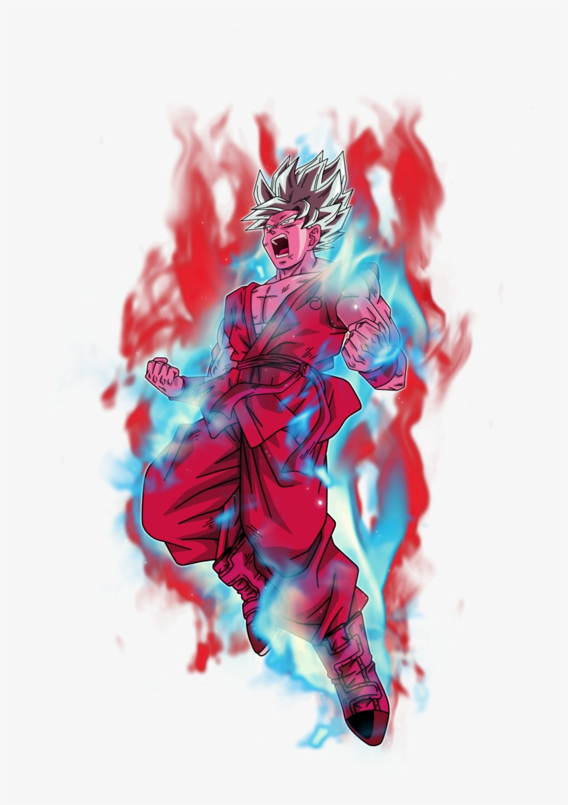 Goku Super Saiyan Blue Kaioken X10 By Bardocksonic - Goku Super Saiyan Blue Kaioken Png, transparent png #1293560