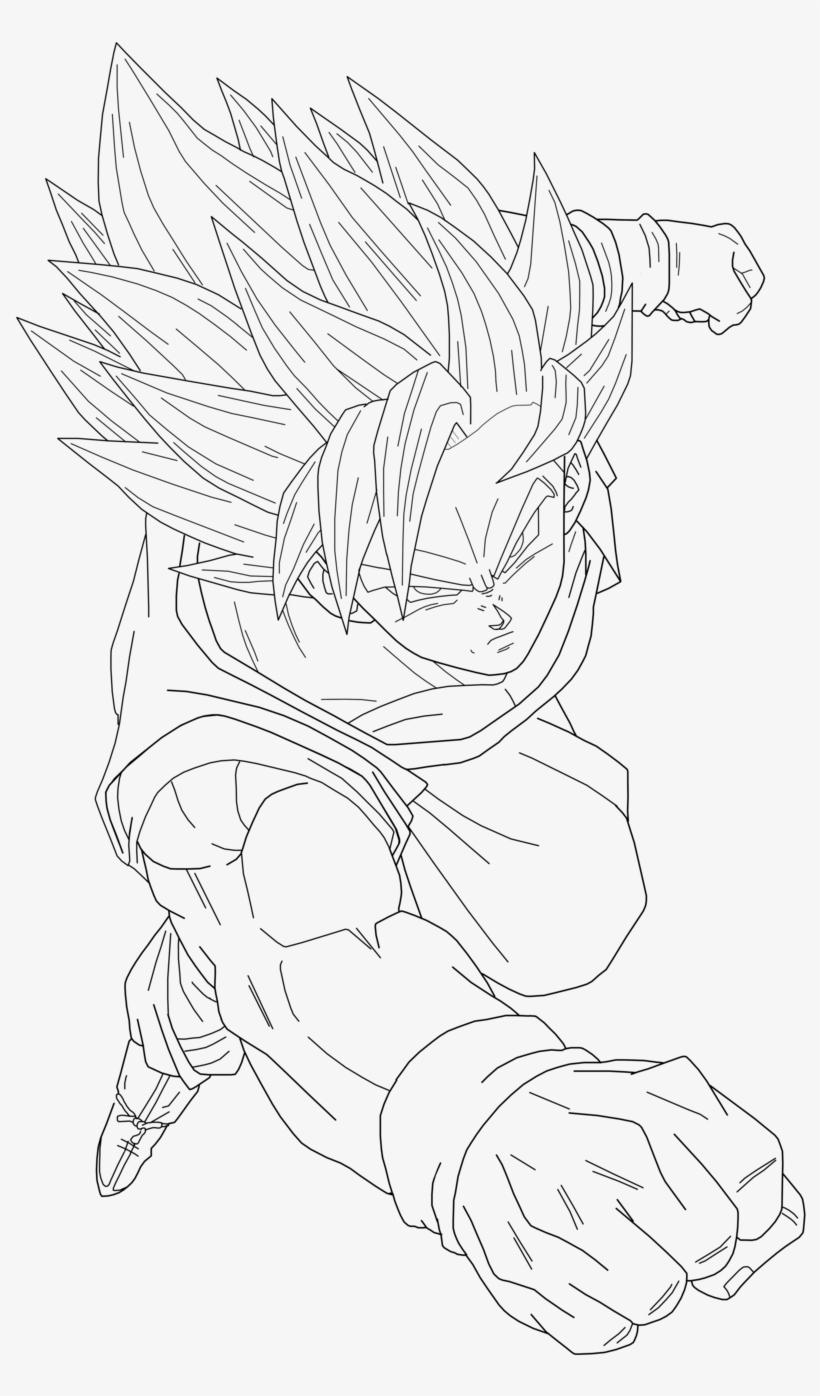 Super Saiyan 2 Goku Version 2 Lineart By Brusselthesaiyan