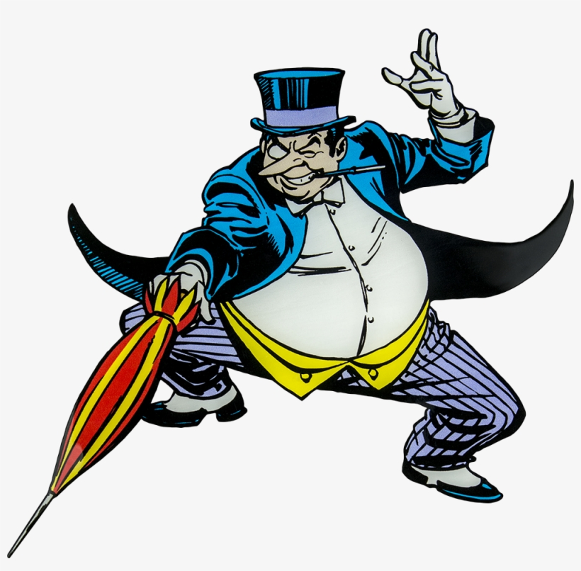 Penguin Clipart Villain - 2011 Hot Wheels Dc Comics Originals 4-pack, 1:64 Die, transparent png #1294070