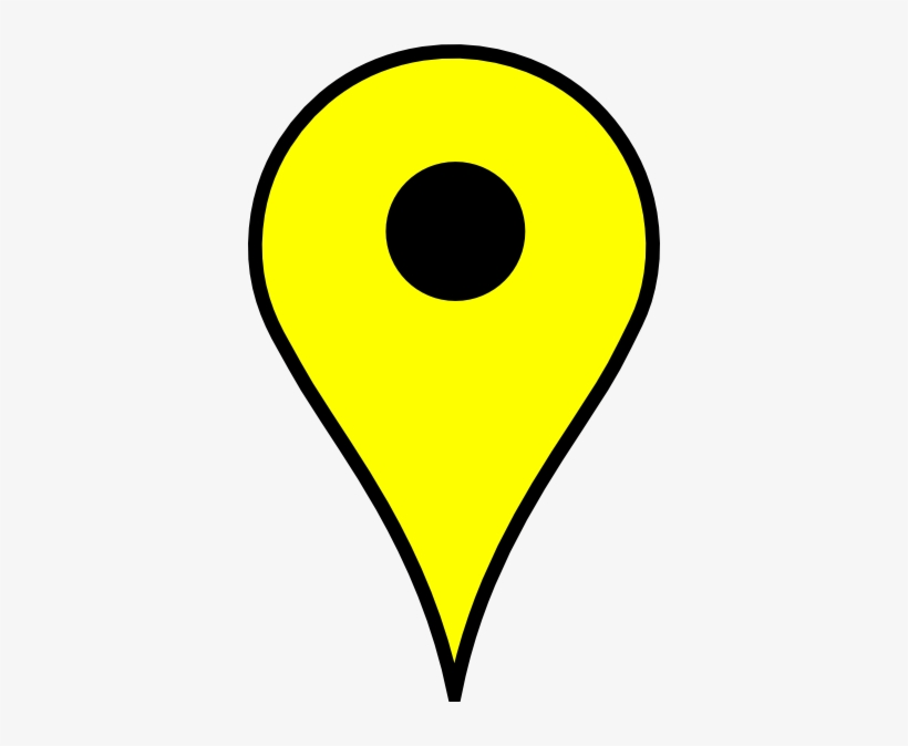 Vector Library Library Pins Clipart Map Pin - Google Map Pin Yellow, transparent png #1294584