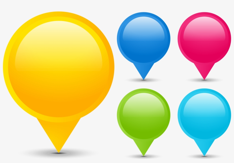 Clipart Map Pin Point - Colored Map Pins Png, transparent png #1294748