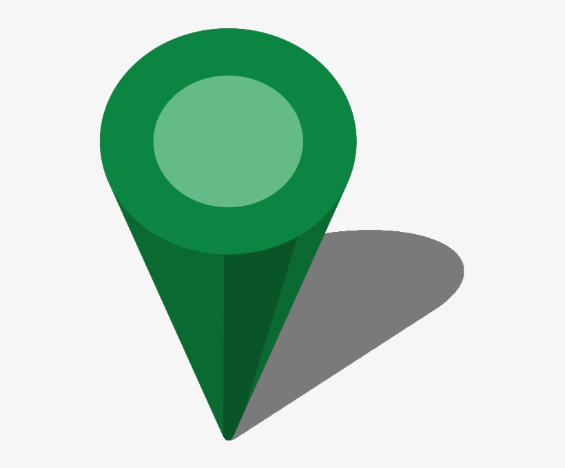Green Map Pin Png - Dark Green Location Icon Png, transparent png #1295049
