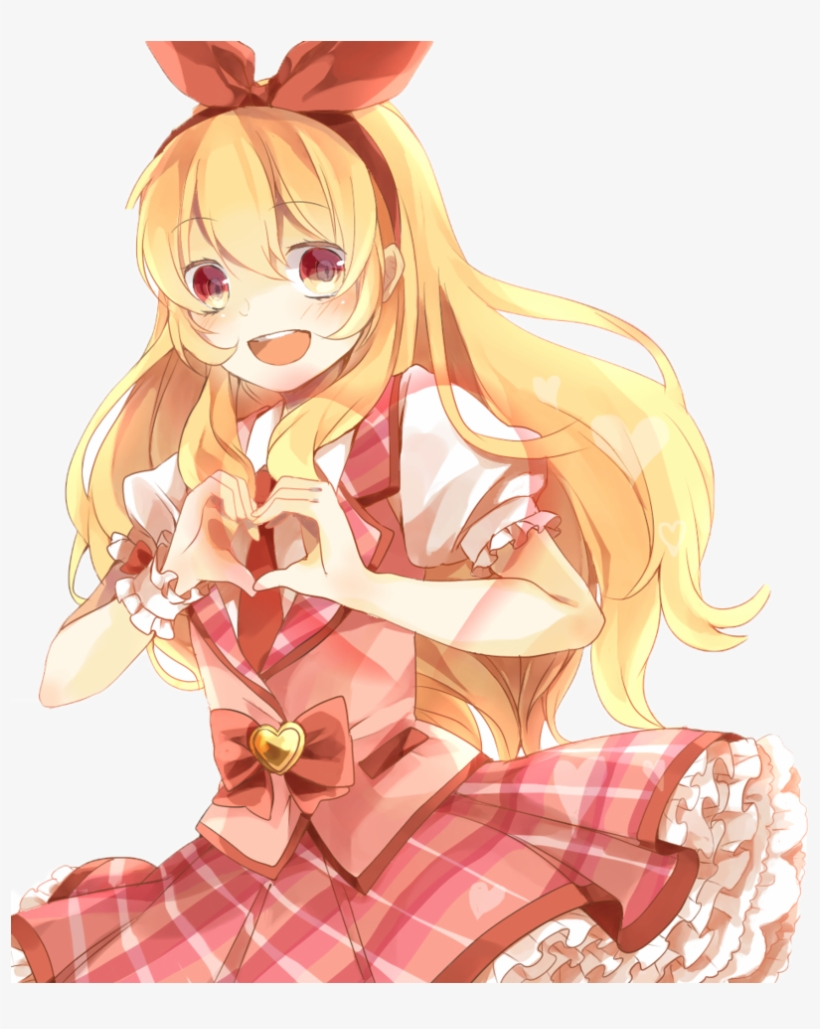 Happy Anime Girl Png - Anime Girl Heart Transparent, transparent png #1295195
