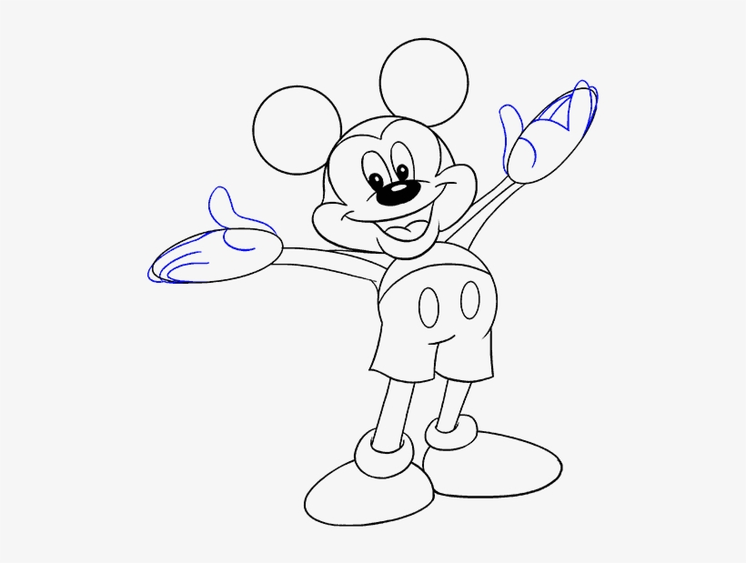 How To Draw Mickey Mouse Easy Drawing Guides Mickey Mouse Pictures