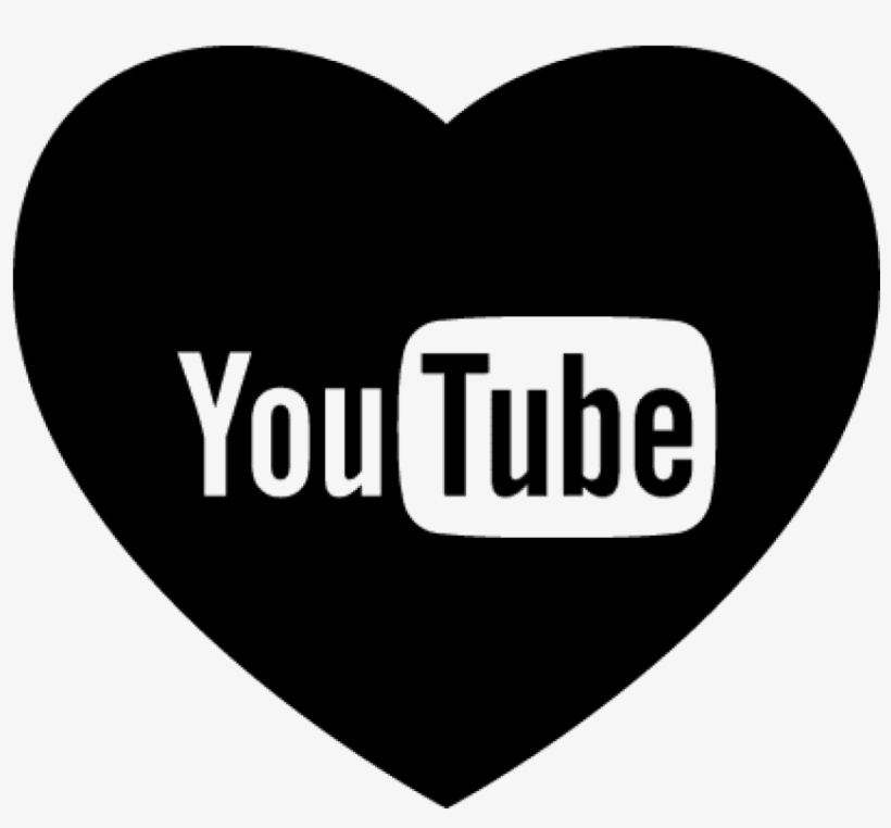 Heart With Social Media Logo Of Youtube Vector - Youtube Marketing, transparent png #1296785