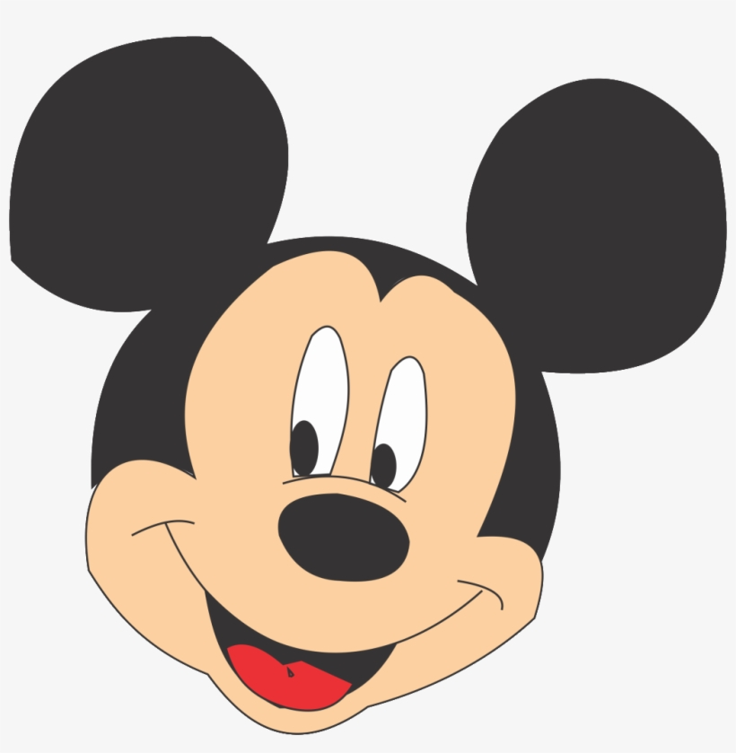 Compartir Twittear Mickey Mouse Face Png - Mickey Mouse A Color, transparent png #1296793