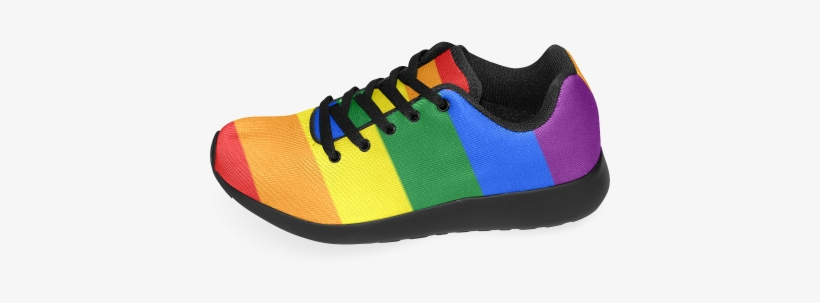 Gay Pride Rainbow Flag Stripes Women s Running Shoes - Sneakers ... 52f73776ad