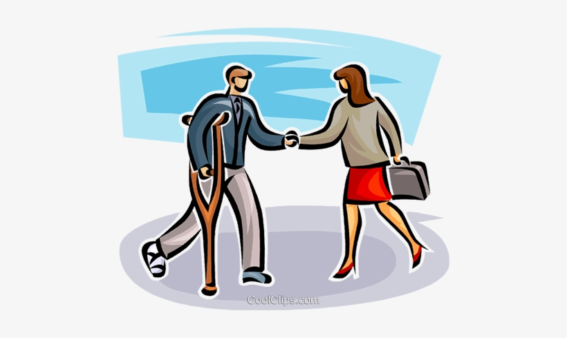Two Business People Shaking Hands Royalty Free Vector - Holding Hands, transparent png #1298167