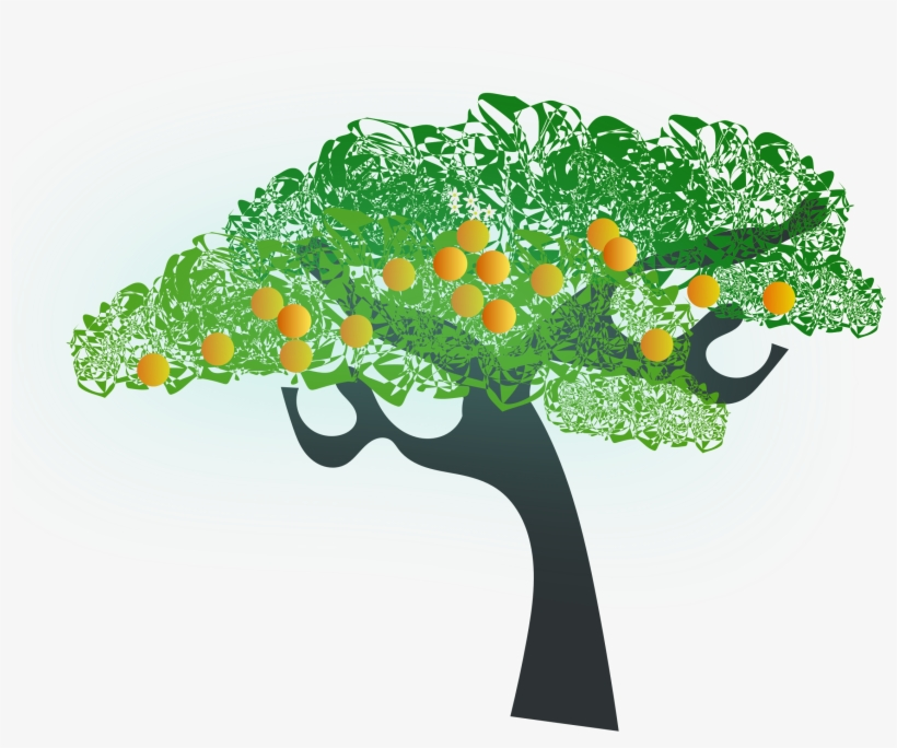 28 Collection Of Orange Tree Clipart Png - Orange Tree Clip Art, transparent png #130455