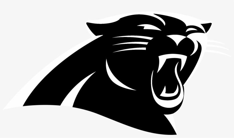 Panther Drawing Logo - Carolina Panthers Logo Black And White, transparent png #131049