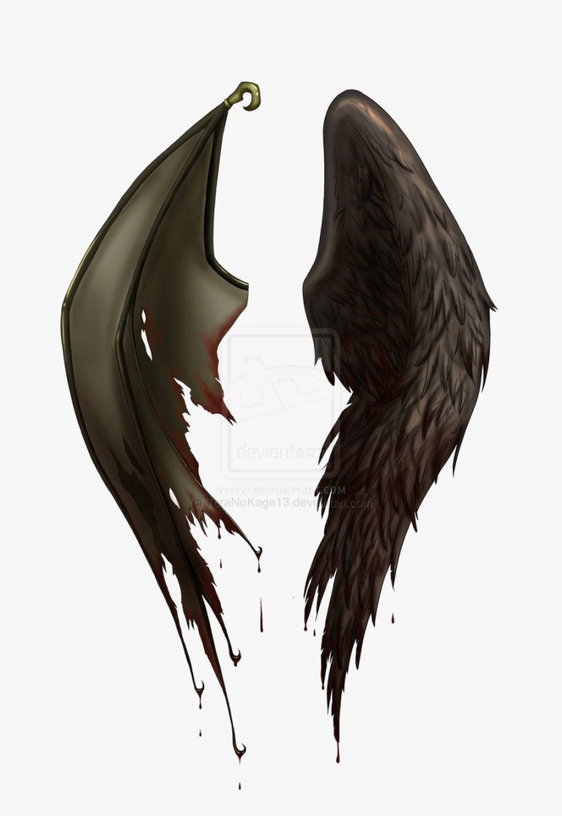 Half Wings Png File Angel And Demon Wings Free Transparent Png