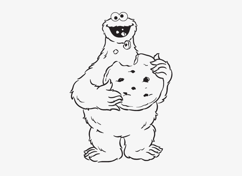 Cookie Monster Eating Cookies Are Great Coloring Pages - Sesame Street Coloring Pages Cookie Monster, transparent png #133438