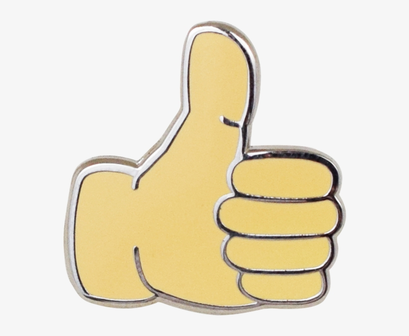 Thumbs Up Emoji Pin - Thumbs Up Pin, transparent png #133462