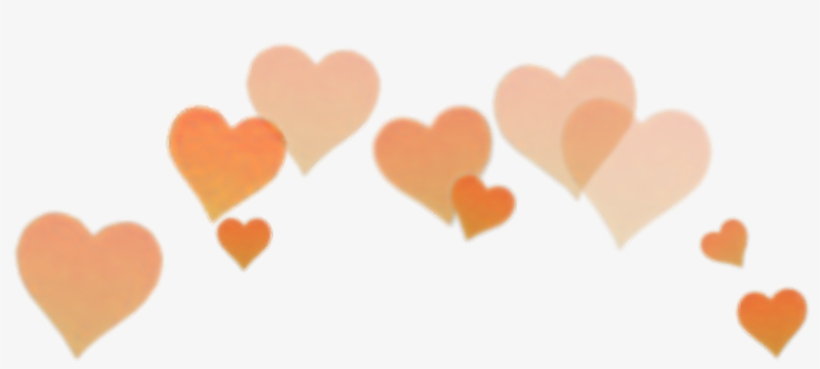 Orange Heart Filter Snapchat Snapchat Crown Clip Art Orange Heart Crown Png Free Transparent Png Download Pngkey