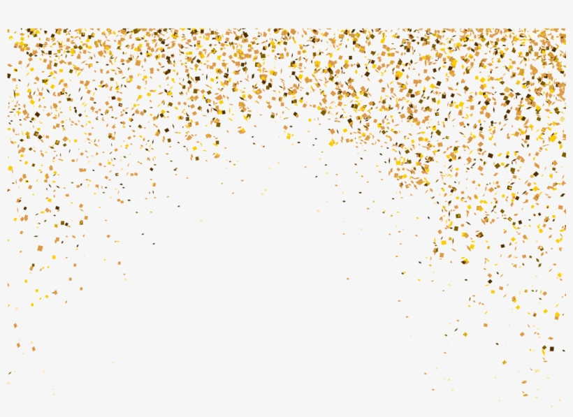 Explosion Particle Irregular Background - Gold Particles Png, transparent png #135637