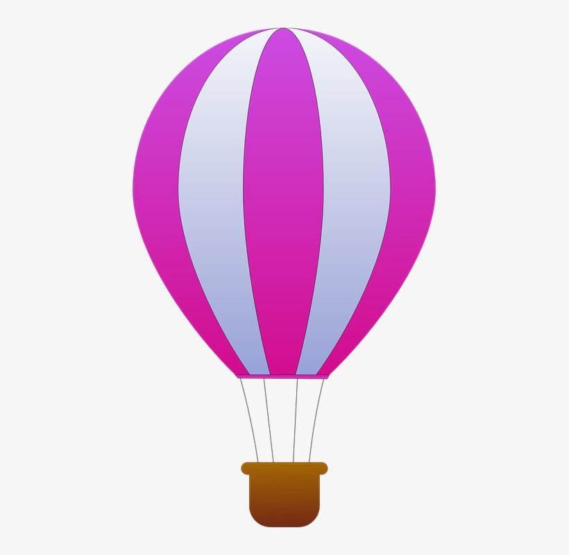 Free Vector Maidis Vertical Striped Hot Air Balloons - Hot Air Balloon Purple, transparent png #135785