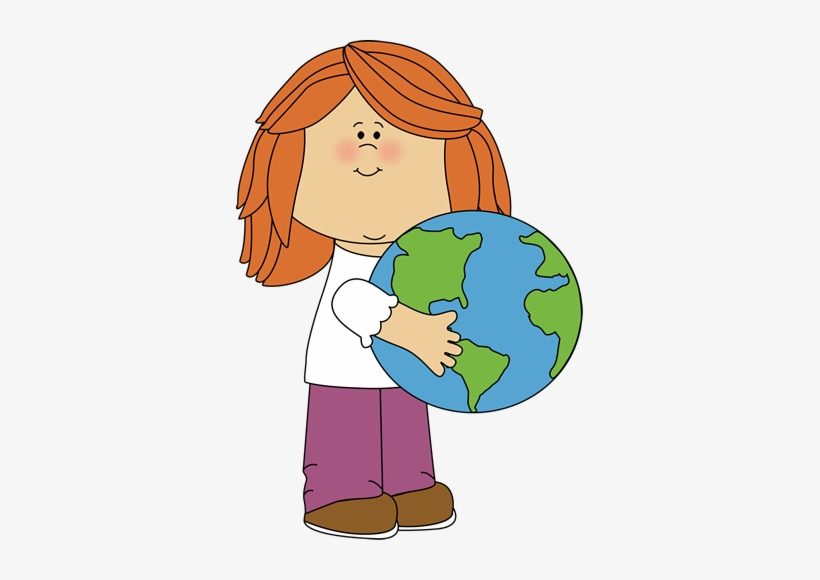 Sunbeam Clipart For Kid Png - Kid With Globe Clip Art, transparent png #135845