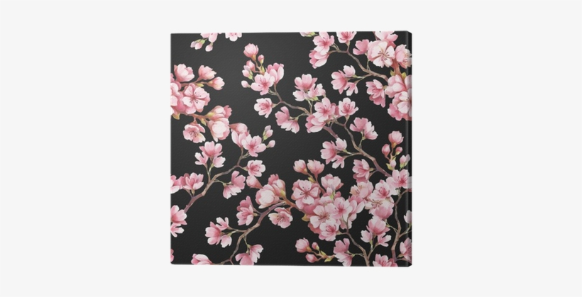 Seamless Pattern With Cherry Blossoms - Cherry Blossom, transparent png #136671