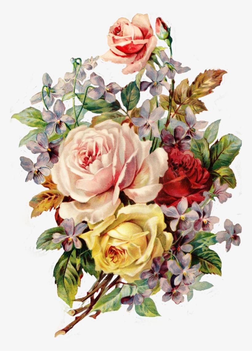 Vintage Flower Png - Vintage Flowers Png, transparent png #136828