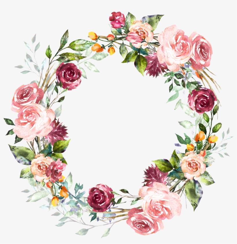 H Pinterest Bullet Journals And - Vintage Flower Round Frame, transparent png #136854
