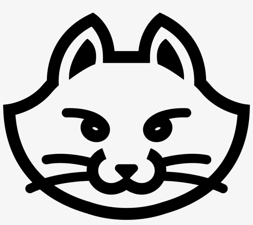 Cat Face - - Cat Face Icon Png, transparent png #137133