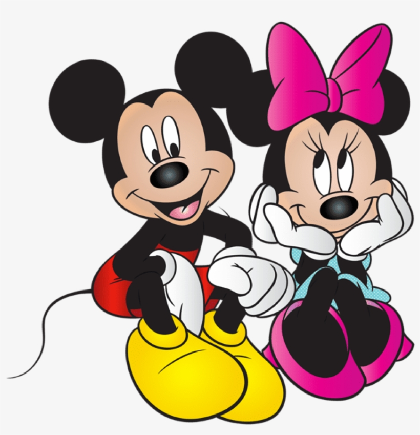 Mickey And Minnie Mouse Free Png Clip Art Image - Mickey Mouse Y Minnie, transparent png #137336
