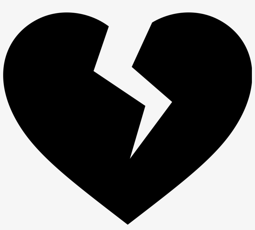 Silhouette Of Heart At Getdrawings - Broken Heart Vector Png, transparent png #137386