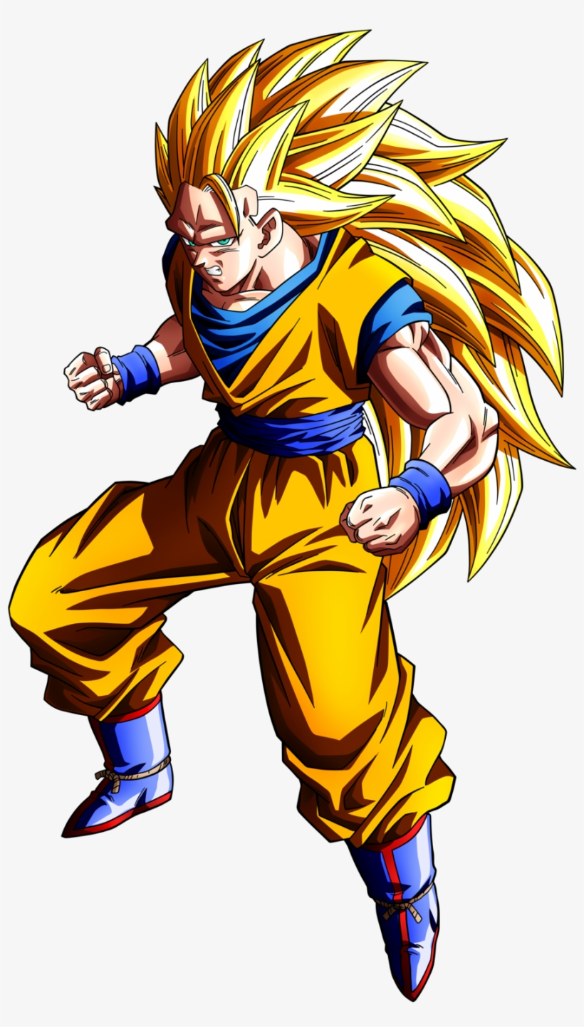 Dragon Ball Z Clipart - Dragon Ball Goku Ssj 3, transparent png #137526