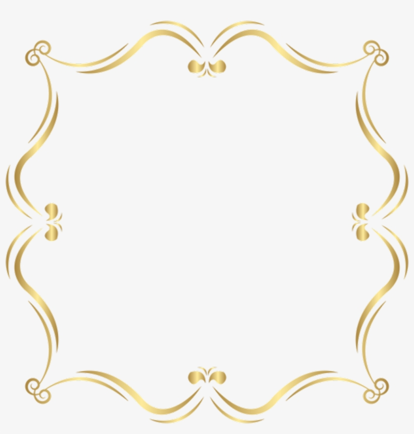 Background Clipart, Page Borders, Hobbies And Crafts, - Clipart Gold Border Elegant Gold Frames, transparent png #137623