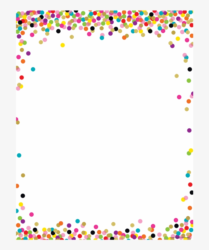 Confetti Border - Free Transparent PNG Download - PNGkey