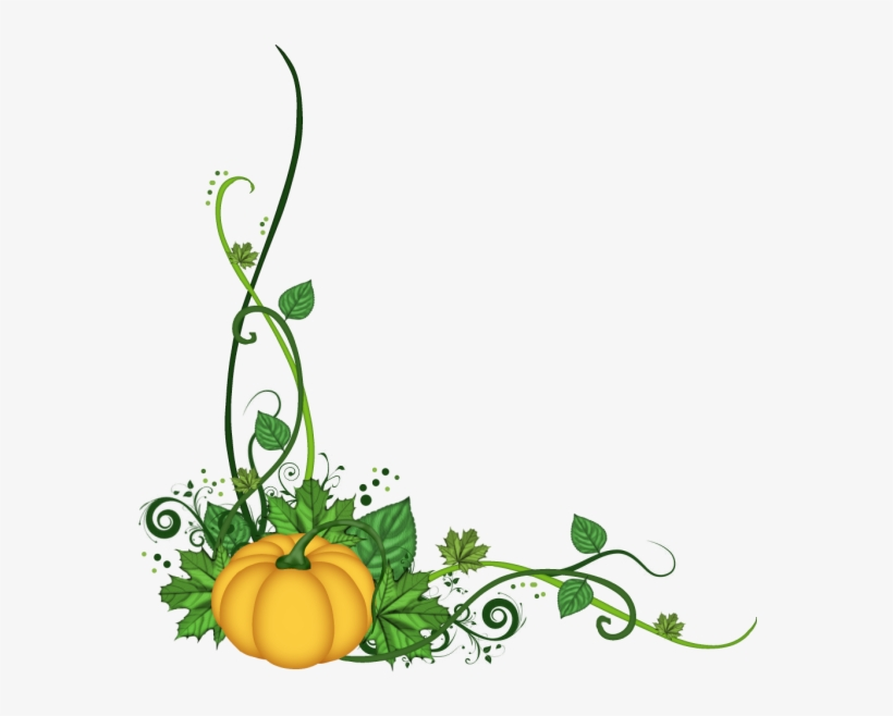 Flourish Pumpkin Clipart Collection Clipart Black And - Pumpkin Corner Border Png, transparent png #138915