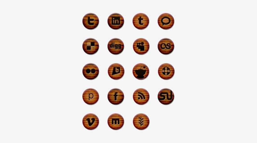 A Free Social Media Icon Pack By Chris Wallace - Wood Grain Social Media Icons, transparent png #139503