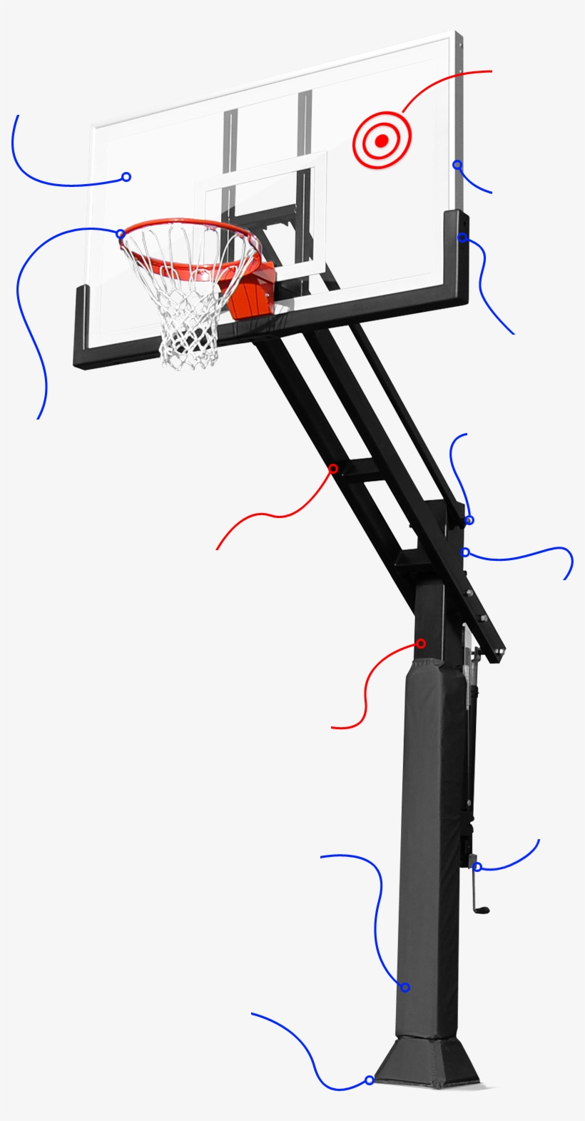 Discover More About Pro Dunk - Basketball Ring And Board Design, transparent png #139791
