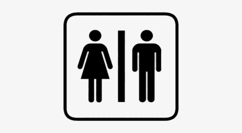 Image Royalty Free Toilet Sign Transparent Png - Man And Woman Vector, transparent png #1302410