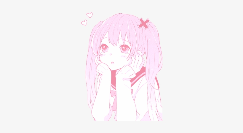 Anime Girl Pink Png - Pink Haired Anime Girl Pastel, transparent png #1302596