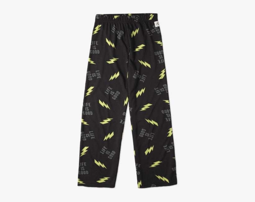 Boys' Lightning Bolt Sleep Pants - Lightning Bolt Pants, transparent png #1302863