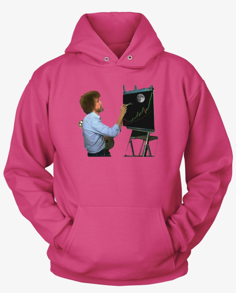 Bob Ross Crypto Night Painting Hoodie - Favorite Hockey Players - Mine Call Me Dad, transparent png #1303805