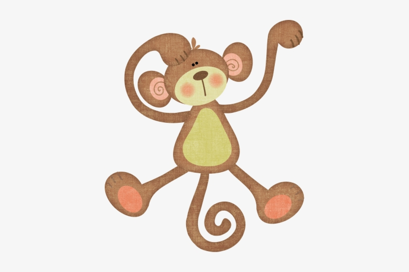 Resultado De Imagen Para Baby Monkey Dibujo - Monkey Baby Shower Invitations With Ultrasound, transparent png #1304389